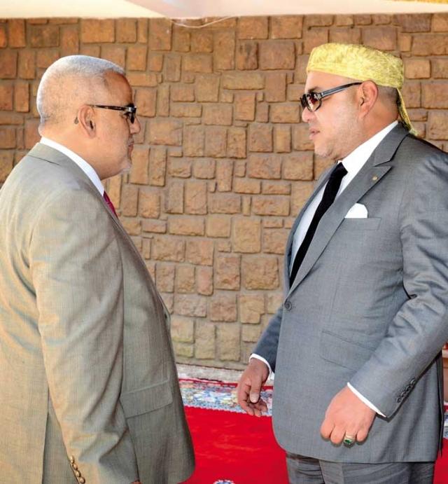 نتيجة بحث الصور عن بنكيران و محمد السادس